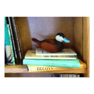 Duck Decoy on Bookshelf Card