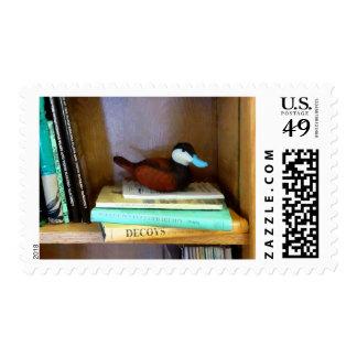 Duck Decoy on Bookshelf Postage