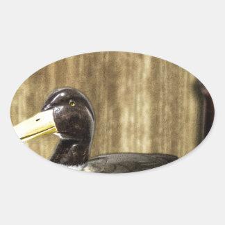 Duck Decoy Oval Sticker