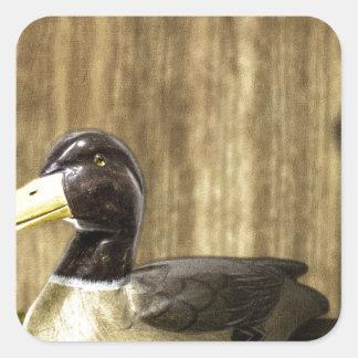 Duck Decoy Square Sticker