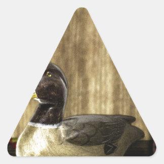 Duck Decoy Triangle Sticker