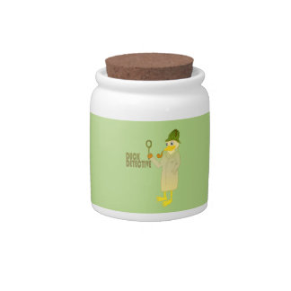 Duck Detective Candy Jar