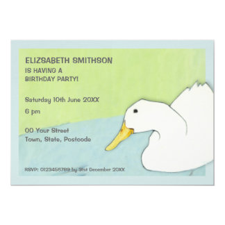 Duck Dip Birthday Party Invitation