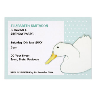 Duck Dip dots Birthday Party Invitation