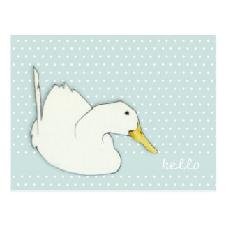 Duck Dip dots Hello Postcard
