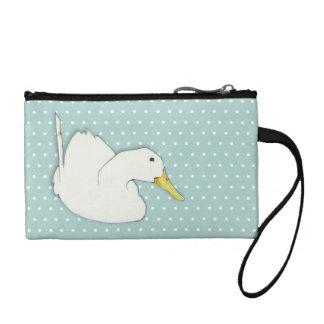 Duck Dip dots Key Coin Clutch Bag