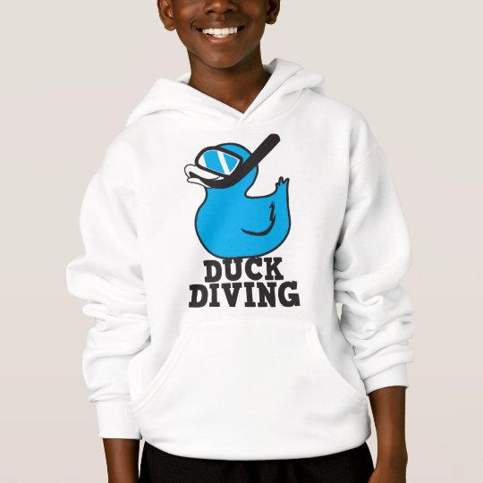 Duck Diving with rubber duckie mask Hoodie