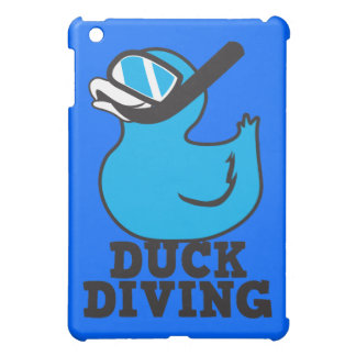 Duck Diving with rubber duckie mask iPad Mini Case