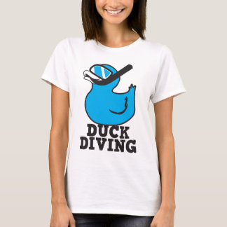 Duck Diving with rubber duckie mask T-Shirt