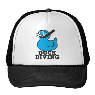 Duck Diving with rubber duckie mask Trucker Hat