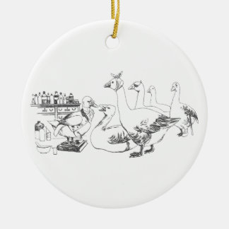 Duck Doctor Sees Patients Ceramic Ornament