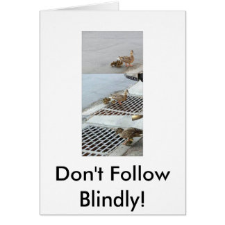 duck, Don't Follow Blindly! Stationery Note Card