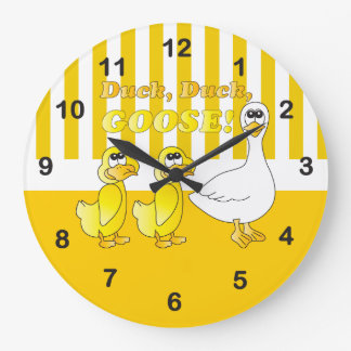 Duck, Duck, Goose Baby Nursery Theme Large Clock