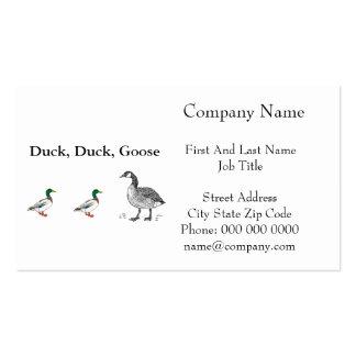 Duck Duck Goose Cartoon Business Card