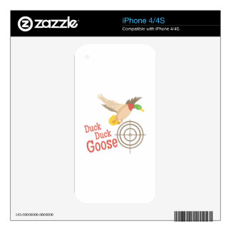 Duck Duck Goose iPhone 4 Decals