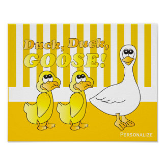 Duck, Duck, Goose Nursery Theme Poster