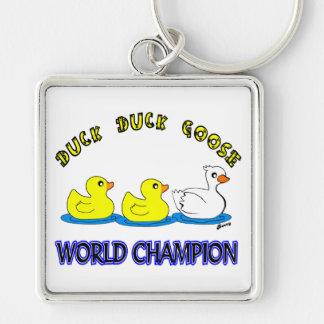 Duck Duck Goose World Champion Keychain