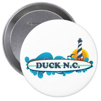Duck.Duck. Pin Redondo De 4 Pulgadas