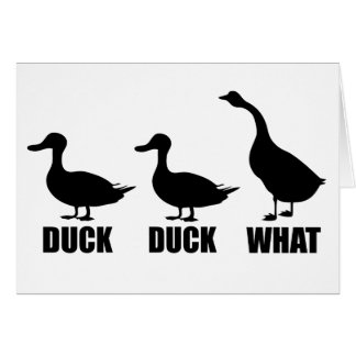 Duck Duck What Goose Card