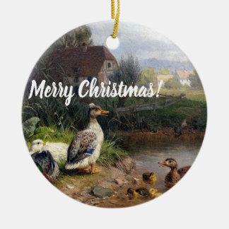 Duck Duckling Birds Pond Animal Christmas Ornament