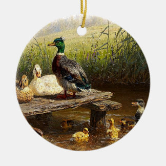 Duck Duckling Birds Pond Christmas Ornament