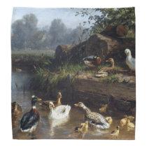 Duck Duckling Birds Wildlife Animal Pond Bandana