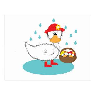 Duck & Ducklings Postcard
