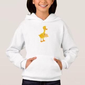 duck eating bread. hoodie