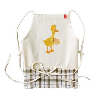 duck eating bread. zazzle HEART apron