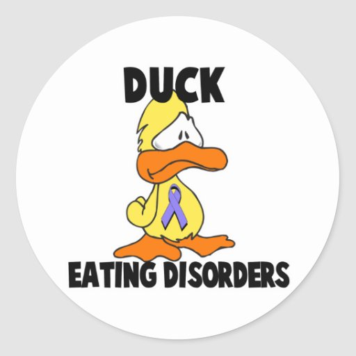 Duck Eating Disorders Round Stickers