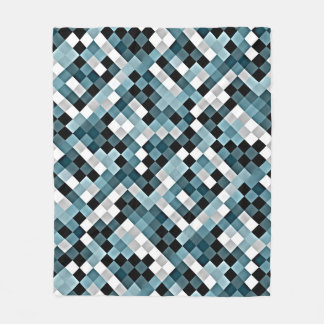 Duck Egg Abstract Mosaic Pattern Fleece Blanket