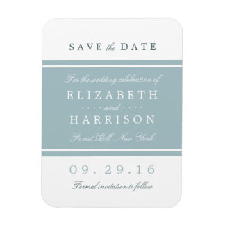 Duck Egg Blue Modern Wedding Save The Date Magnet