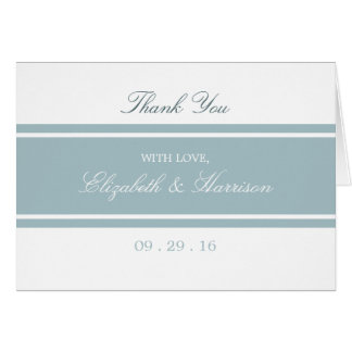 Duck Egg Blue Modern Wedding Thank You Card