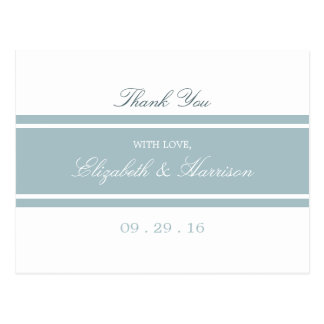Duck Egg Blue Modern Wedding Thank You Postcard