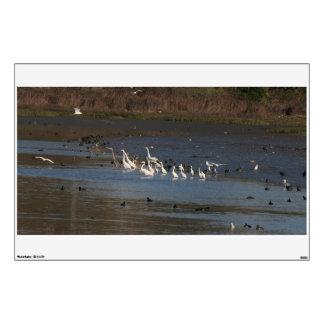 Duck Egret Heron Birds Wildlife Fishing Wall Decal