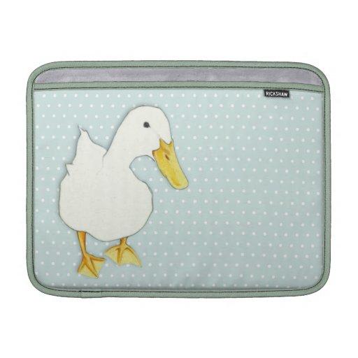 """Duck el aire 13"""" de MacBook de los puntos del beso Fundas Para Macbook Air"""