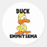 Duck Emphysema Round Stickers