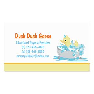 Duck en guardería de la tina o cualquier plantilla tarjetas de visita