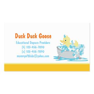 Duck en guardería de la tina o cualquier plantilla plantilla de tarjeta de visita