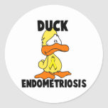 Duck Endometriosis Round Stickers
