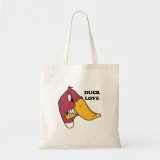 DUCK f LOVE Tote Bags