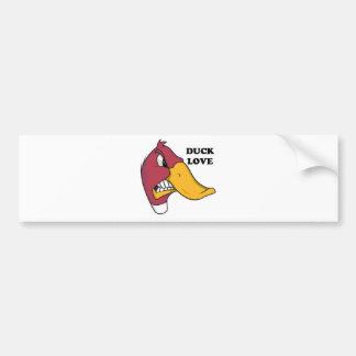DUCK f LOVE Bumper Stickers