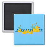 Duck Family 2 Inch Square Magnet