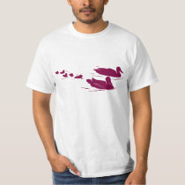 Duck family in water animation illustration T-Shirt