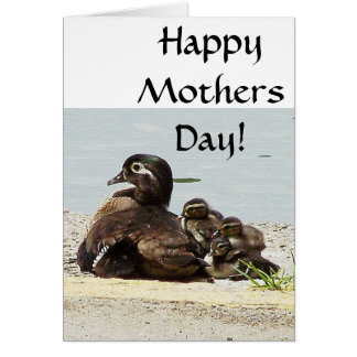 Duck Family Mothers Day Card