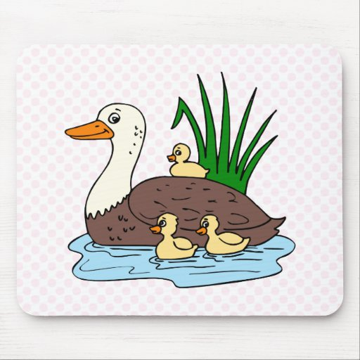 Duck Family Mouse Pads