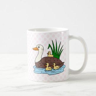 Duck Family Classic White Coffee Mug