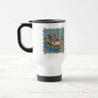 Duck Family Plastic Travel Mug