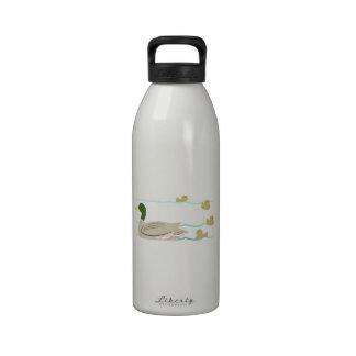 Duck Family Reusable Water Bottle