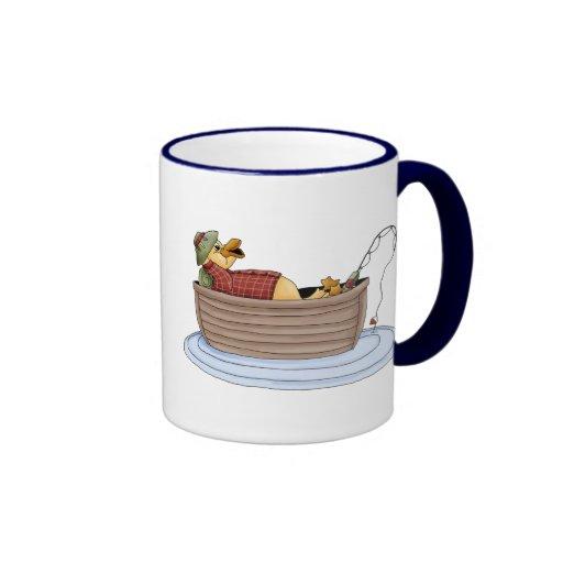Duck Fishing Ringer Coffee Mug